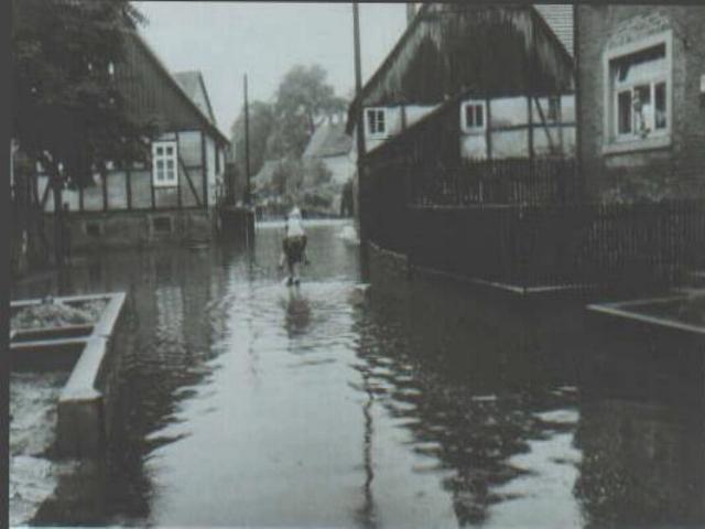 Welda Hochwasser 1965 - Fahrweg