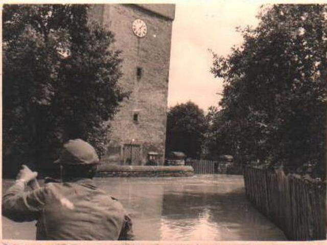 Welda - Hochwasser 1965 - St.Kilian Kirche